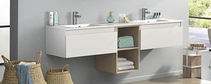 12 meuble salle de bain suspendus design guide artisan. Black Bedroom Furniture Sets. Home Design Ideas