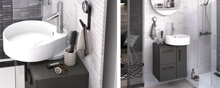 Mobilier petite salle de bain Ilot Delphy