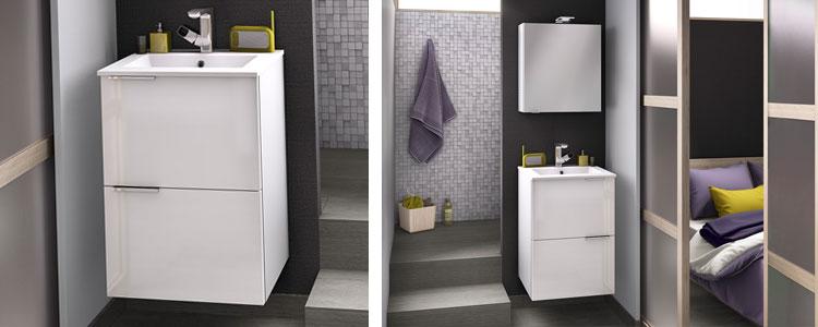 meuble petite salle de bain Delphy Kub