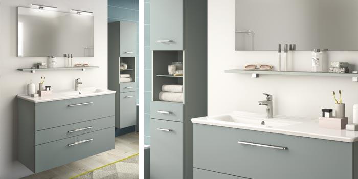 solution ameublement petite salle de bain 4m2 Delphy