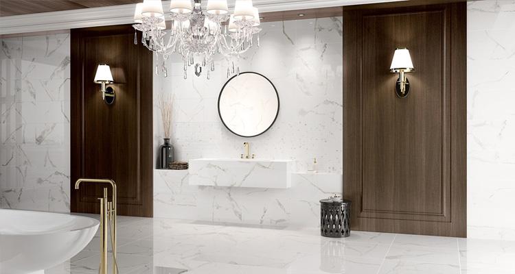 le carrelage gr s c rame pour la salle de bain guide artisan. Black Bedroom Furniture Sets. Home Design Ideas