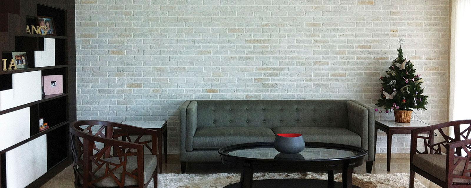 Mur En Parement Salon les plaquettes de parement : des décorations à l'infini