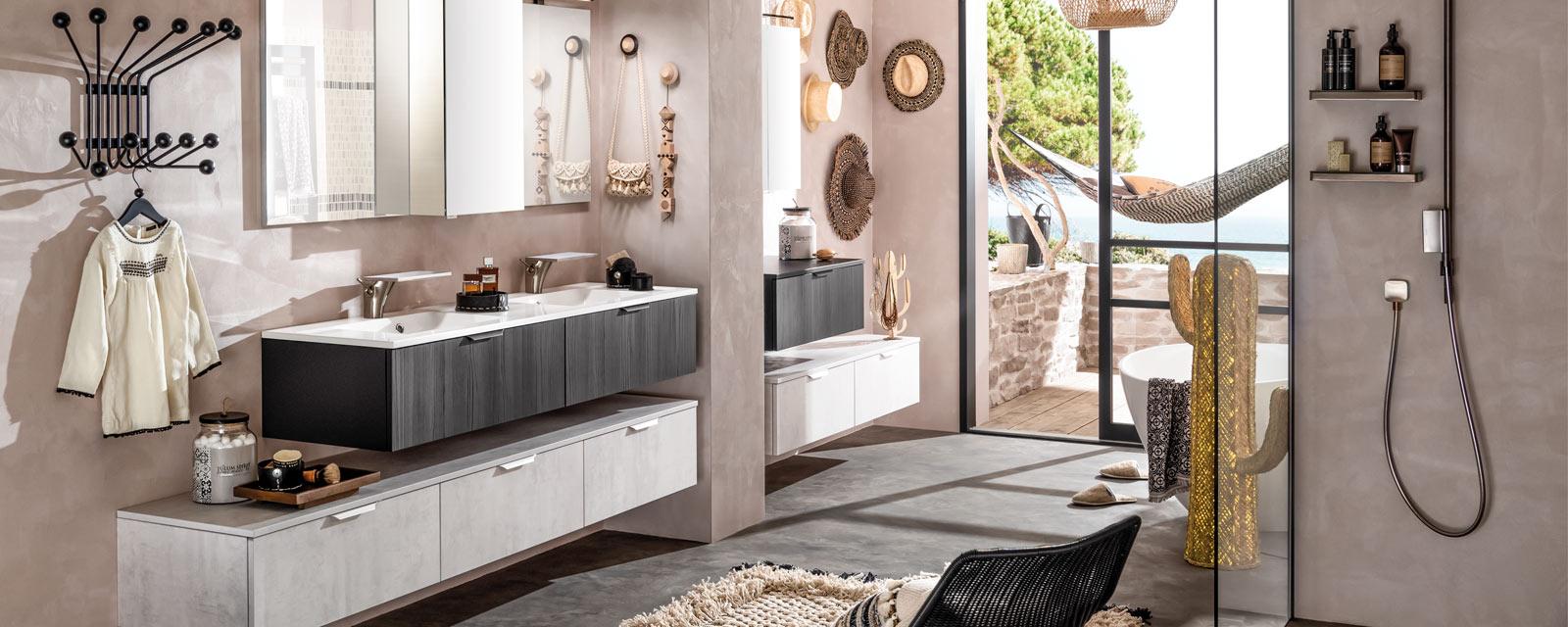 18 Meuble salle de bain suspendus design  Guide Artisan
