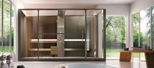 installer un sauna chez soi galeries photos la. Black Bedroom Furniture Sets. Home Design Ideas