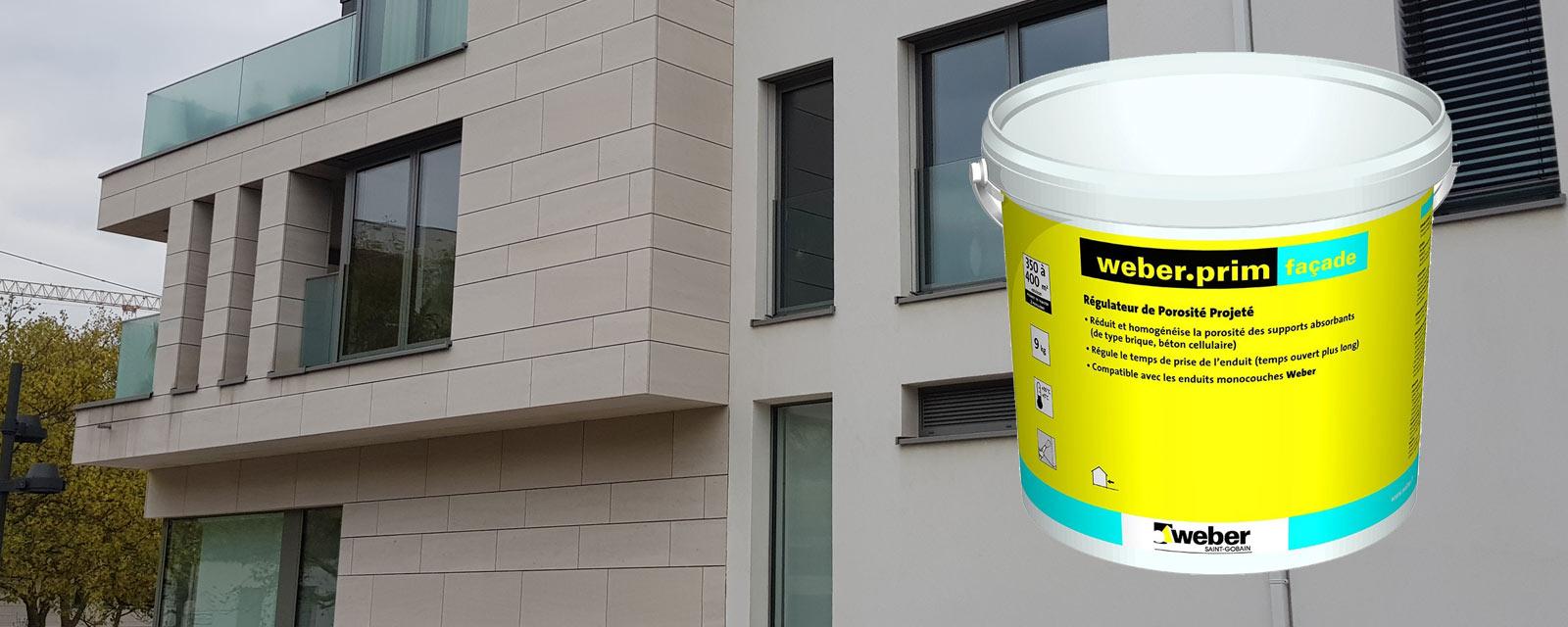 Pose Enduit De Facade Monocouche régulateur porosité weberprim façade weber | guide artisan