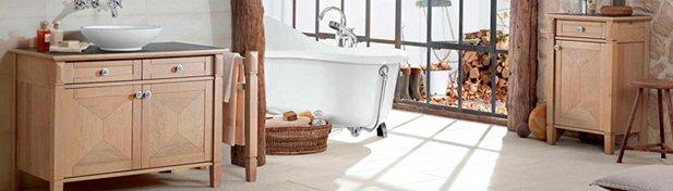 meuble salle de bain bois true oak villeroy boch
